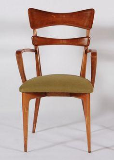 Ico Parisi Attributed; Armchair, 1950s.