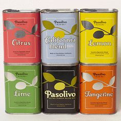 love the colorful tin packaging for olive oil #oliveoil #oliveoilpackaging #packaging