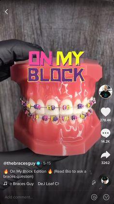 Dental Braces, Teeth Braces, Cute Braces Colors, Braces Tips, Getting Braces, Cute Tooth, Girl Film, Amazing Halloween Makeup, Brace Face