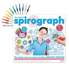 Spirograph with Gel Pen SetThe award winning Spirograph is back and better than ever! This fun drawing set will have your budding artist creating a kaleidoscope of colors on paper. Stars and stripes ...