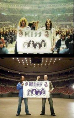Kiss alive back cover banner. Same guys same venue same banner.