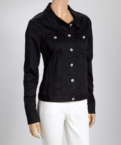 Look what I found on #zulily! Black Denim Jacket - Women & Plus by Attitude Pie #zulilyfinds