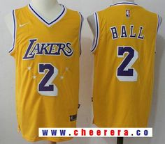 9246db9d6 Men s Los Angeles Lakers  2 Lonzo Ball Yellow Hardwood Classics 2017-2018  Nike Swingman Stitched NBA Jersey