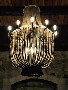 Chandelier with rope upcycled