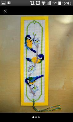 A cute cross-stitch bookmark :) Cross Stitch Bookmarks, Cute Cross Stitch, Cross Stitch Designs, Cross Stitch Patterns, Crochet Cross, Diy Ideas, Craft Ideas, Crafty, Bird