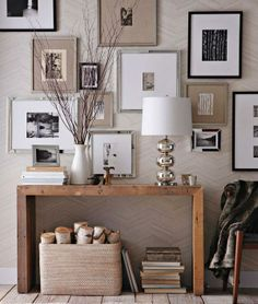 Framed photo collage wall  via West Elm
