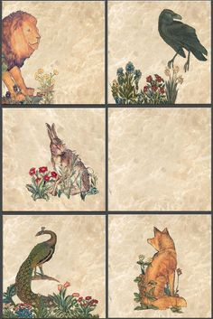 William Morris Forest Animals Tiles.  The William Morris Tile adaptations of The Forest Animals are registered with the US Copyright office. You are free to use them for non-commercial purposes.