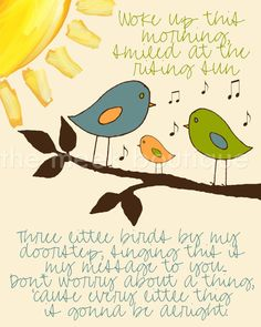 Three Little Birds Printable No 94 by TheMeekBoutique on Etsy, $5.00