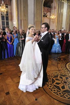 Crown Princess Victoria of Sweden and Prince Daniel, Duke of Vastergotland dance after the Wedding Banquet at the Royal Palace on June 19, 2010 in Stockholm, Sweden.