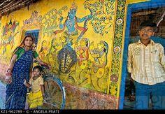 India,Orissa,Dandasahi village,murals
