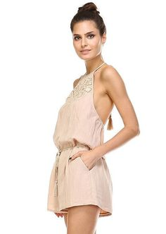 Gentle, sweet, natural, free-spirited, carefree Beige Style, Free Spirit, Crochet Lace, Bungalow, Nude, Rompers, Shorts, Chic, Play Hard