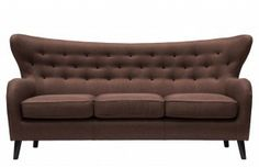 Wilfred Three Seater Sofa in Chocolate