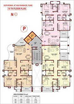 Sophronia Floor plan www.99olx.com Duplex Floor Plans, Hotel Floor Plan, Luxury Floor Plans, Apartment Floor Plans, House Floor Plans, Residential Building Plan, Residential Complex, Building Plans, Drawing House Plans