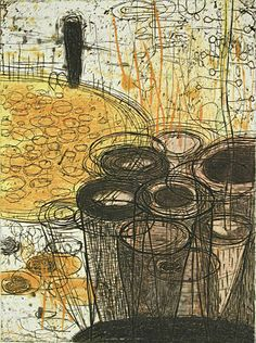 Akiko Taniguchi. Potential, 2000. Collagraph, relief, chine colle. Edition of 20. 7-7/8 x 5-7/8 inches.