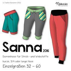 """Die Jersey-Hose """"Sanna"""" - Ein must-have Basic für den Sommer! Sie sitzt leger - aber dennoch nicht """"pumpig"""" – also durcha..."""