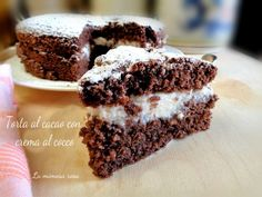 Torta al cacao con crema al cocco