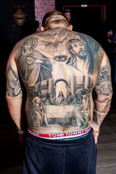 54 Graceful Religious Tattoos On Back Hi Here we have nice wallpaper about religious back tattoo designs. We wish these photos can be your f. Life Tattoos, Body Art Tattoos, Hand Tattoos, Sleeve Tattoos, Tattoos For Guys, Tatoos, Cool Tattoos, Heaven Tattoos, Grey Tattoo