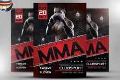 MMA Flyer Template 2 by FlyerHeroes on @creativework247