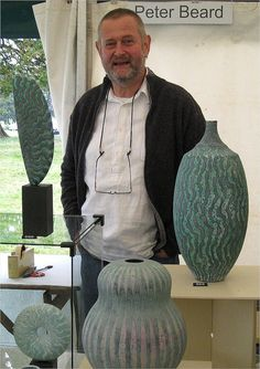 Peter Beard - there are not enough words to express the talent this man has in his little finger alone - ceramics that beg to be bought! Pottery Workshop, Pottery Studio, Pottery Sculpture, Pottery Vase, Peter Beard, Clay Vase, Modern Ceramics, Ceramic Clay, Ceramic Artists