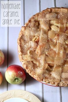 Homemade Caramel Apple Pie - The absolute best apple pie I've ever eaten and really so simple to make!