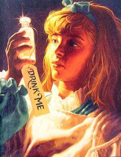 Alice in Wonderland Drink Me 1990 Vintage by mysunshinevintage