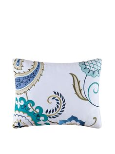 Alena Embroidered Pillow, Blue Multi at MYHABIT