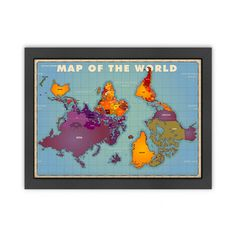 Alternative View of the World Map Poster (upside down)