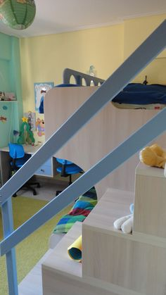 Κρεβάτι-κουκέτα και γραφείο σε χρώμα δρυς από Laminate Egger έπιπλα Καφρίτσας Αρης Desk, Furniture, Home Decor, Desktop, Decoration Home, Room Decor, Home Furnishings, Office Desk, Offices