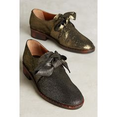 Kupuri Keyhole Ribbon Oxfords ($298) ❤ liked on Polyvore featuring shoes, oxfords, ribbon shoes and oxford shoes