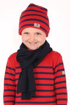 Bonnet OUESSANT Kid avec pull Tim Kid et écharpe  #modeenfant #rayuresaddict