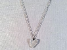 Hand formed Sterling Heart Necklace from J&I Jewelry. So beautiful in person!