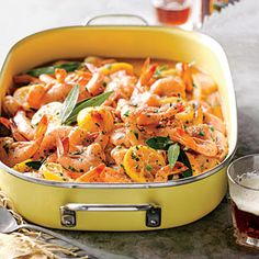 Beer-Braised BBQ Shrimp | MyRecipes.com This recipe is FANTASTIC!! Easy, pretty and dipping the bread in the sauce is scrumptious