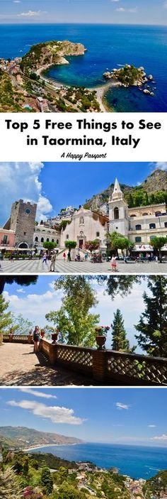 Top 5 Free Things to See in Taormina, Italy –– Taormina is a small town perched on the cliffs of Sicily in Italy. While popular among affluent visitors, there are several ways to spend a day in this charming village without spending anything!