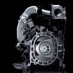 Cutaway of mazda rotary engine