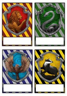 CLASS NAMEPLATES - Harry Potter Theme - A3, set of 28 nameplates