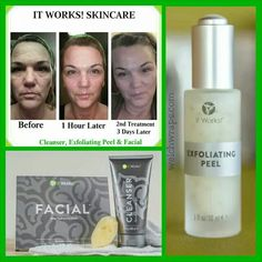 """Stand out with softer, smoother, more luminous skin using it works #Exfoliating peel and #Facial! Text """"stand out"""" to 313-6iwrapu for more info. #TakeItAllOff #Skincare #WelchWraps"""