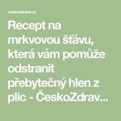 Recept na mrkvovou šťávu, která vám pomůže odstranit přebytečný hlen z plic - ČeskoZdravě.cz