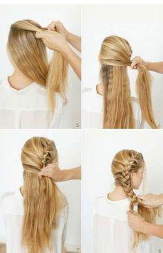 Lateral DIY braid as a romantic bridal hairdo - Frisuren Trends Pretty Hairstyles, Girl Hairstyles, Braided Hairstyles, Side French Braids, Pretty Braids, Beautiful Braids, Bridal Hairdo, Wedding Hairstyle, Hair Day