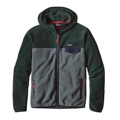 Patagonia Men\'s Lightweight Synchilla\u00AE Snap-T\u00AE Hoody - Nouveau Green NUVG