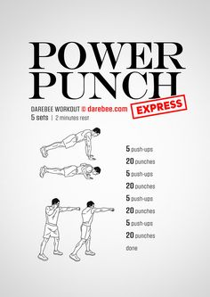 Ab Workouts At Home Discover Power Punch Express Workout Mens Super Hero Shirts Womens Super Hero Shirts Leggings Gadgets Boxing Training Workout, Home Boxing Workout, Kickboxing Workout, Mma Training, Boxing Workout With Bag, Batman Training, Boxer Training, Heavy Bag Workout, Calisthenics Workout