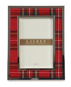 Lauren Ralph Lauren Picture Frame, Clearly Tartan - Classic red plaid edged in silver plate trims your decor with the traditional prep and polish of Lauren Ralph Lauren.