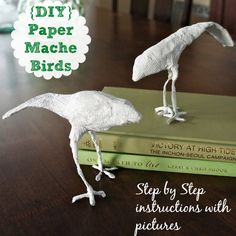 Paper Mache Birds: Easy DIY project   All you need is scrap paper, wire, glue and water! Fun project for Spring.