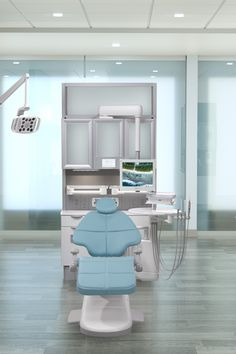 Cyan A-dec 500 dental chair in dental operatory