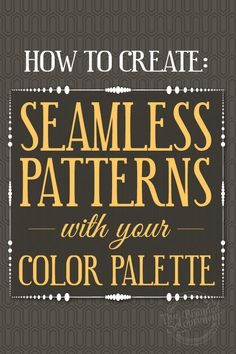 How to Create Seamless Patterns With Your Color Palette {Video Tutorial} Blog Website Design, Website Ideas, Web Design, Graphic Design, Creative Suite, Brand Fonts, Blogging For Beginners, Blogging Ideas, Blog Images