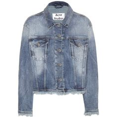 Acne Studios Tram Denim Jacket (430 BAM) ❤ liked on Polyvore featuring outerwear, jackets, coats & jackets, coats, blue, blue jackets, blue jean jacket, acne studios, jean jacket and blue denim jacket