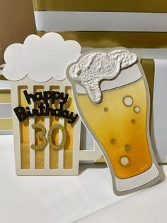 Cheers and Beers to 30 Years! – Beer cards using Cricut Beer Birthday Party, 16th Birthday Card, Birthday Cards For Him, Birthday Cards For Boyfriend, Masculine Birthday Cards, Man Birthday, Cards For Men Handmade, Cricut Invitations, Creative Gifts For Boyfriend