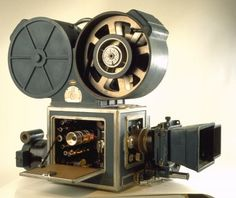 Technicolor three-colour 35mm Camera, made by Technicolor Corporation in the United States, c. 1932. Three-colour camera, which used a beam splitter behind the lens with red, green and blue filters to record the primary colours on three separate monochrome films. Subsequently, each negative was reproduced in its appropriate dye colour on the print. The number DE17 on the camera implies that this was camera No 17 at Denham Film Studios, Buckinghamshire.