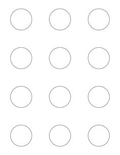 Macaron template. Print out and slide under parchment when piping macarons for perfect, easy circles.