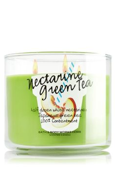 Nectarine Green Tea 3-Wick Candle - Slatkin & Co. - Bath & Body Works
