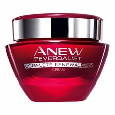 ANEW Reversalist Complete Renewal Night Cream from Avon. Hydrates, while renewing skin layer by layer. Dramatically restores the look and feel of youthful firmness and reduces the look of fine lines and wrinkles. Get your rebate from RebateGiant. Serum, Night Face Cream, Alpha Hydroxy Acid, Skin Firming, Anti Aging Skin Care, Good Skin, Jelsa, Avon Products, Beauty Products